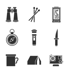 Survival kit icons set vector image