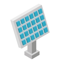 Panel solar isometric icon vector