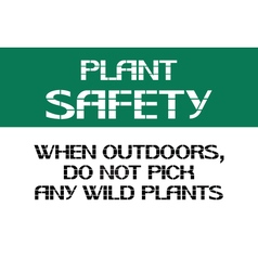 Plant safety sign vector