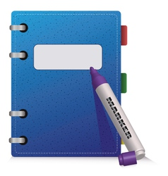 Blue diary vector