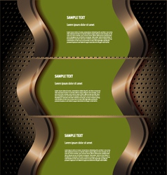 Stylized presentationoption template vector