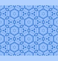 retro blue seamless wallpaper vector image