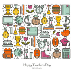 teacher s day vector image