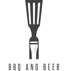 Bbq tools and beer design template vector
