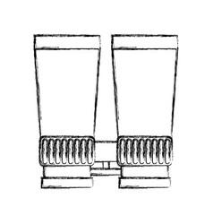 Binoculars device isolated icon vector