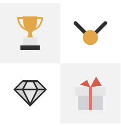 Set of simple prize icons vector