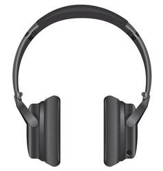 Black modern headphones vector