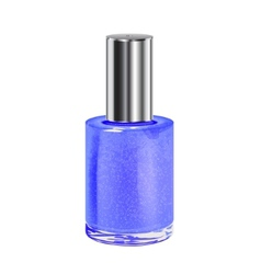 Nail polish with silver cap object vector
