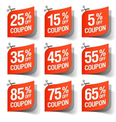 Sale coupons vector image