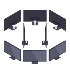 Isometric hd monitor vector