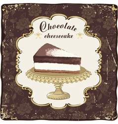 Chocolate cheesecake vector