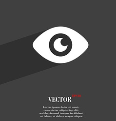 Eye publish content icon symbol flat modern web vector