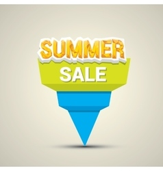 Summer sale label or sticker vector