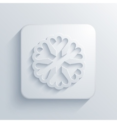 Modern snowflake light icon vector