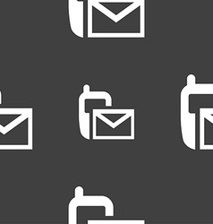 Mail icon envelope symbol message sms sign vector