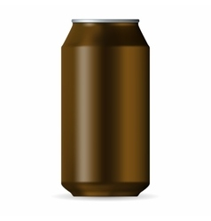 Realistic brown aluminum can vector