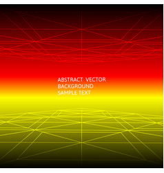 Abstract red and yellow line geometric polygonal vector