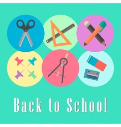 back to school conception chancellery set vector image vector image