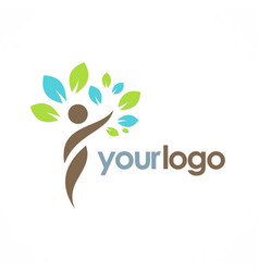 beauty ecology tree logo vector image