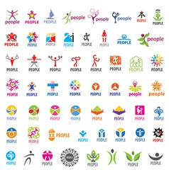 biggest collection of logos people vector image vector image