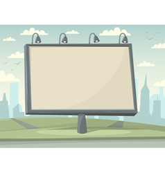 Billboard with city background vector image vector image