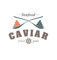 Caviar emblem vector