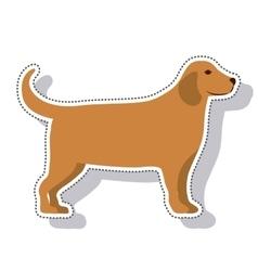 Dog animal pet mascot isolated icon vector