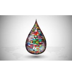 drop consisting of the flags countries vector image vector image