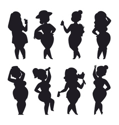 Fat girl set vector image vector image