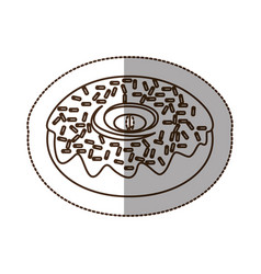 Figure chocolate donut icon vector
