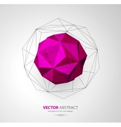 Geometric background with triangles vector