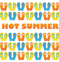 hot summer vector image