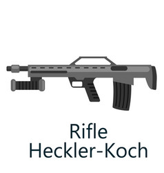 Hunting repeating air rifle hecker-koch weapon vector