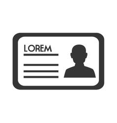 Identification id icon vector