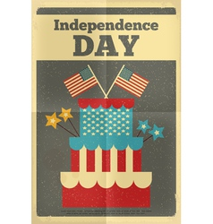 independence poster cake vector image vector image