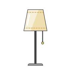 Lamp flat icon and light object interior vector