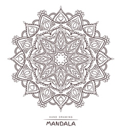 mandala for coloring with ethnic decorative elemen vector image