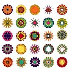 mandalas Colored mandala set vector image