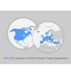 NATO member countries vector image vector image