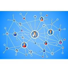 Network connection vector image vector image