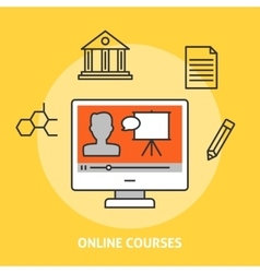 Online courses concept vector image vector image