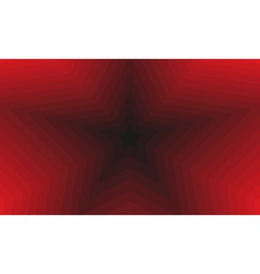 red background receding into the distance as stars vector image vector image