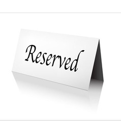 Reserved sign vector