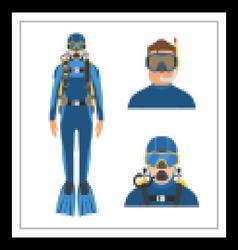 Scuba Diver Man vector image vector image