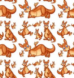 Seamless kangaroo vector image vector image