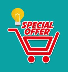 shopping design marketing icon isolated vector image