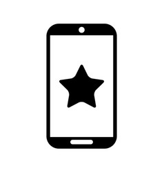 Smartphone device with star isolated icon vector