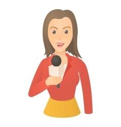 Speaking presenter icon cartoon style vector