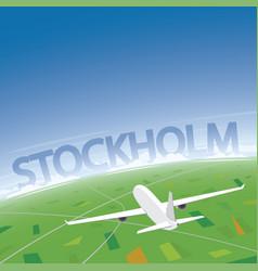 Stockholm flight destination vector