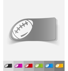 Realistic design element rugby ball vector